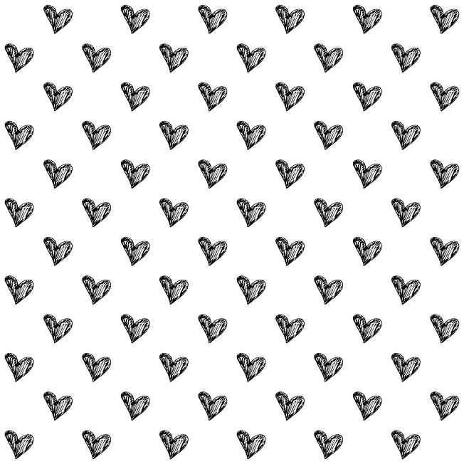 Free scrapbook sketchy hearts overlay from Cesstrelle