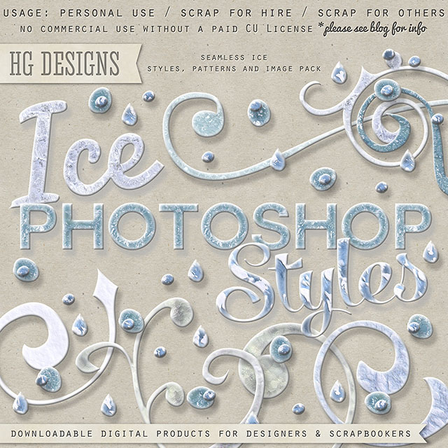 freebie: photoshop ice and snow styles