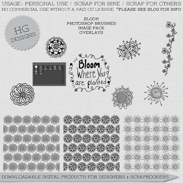 freebie: bloom brushes