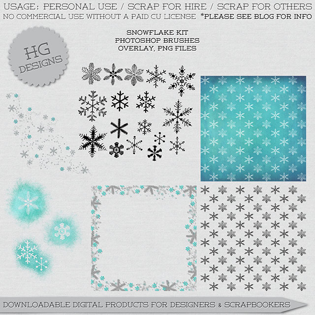 freebie: snowflake brushes