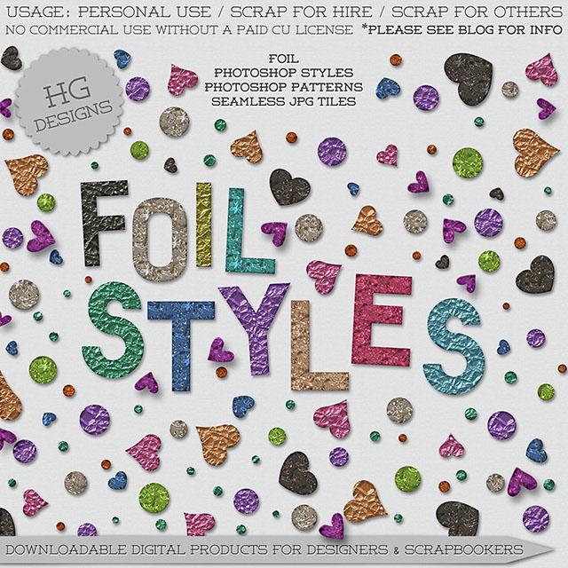 freebie: foil styles