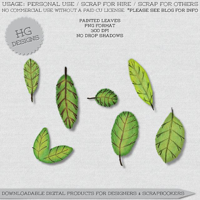 freebie: painted leaves
