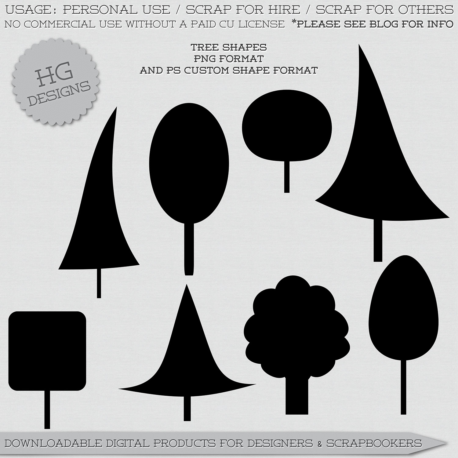 freebie: tree shapes