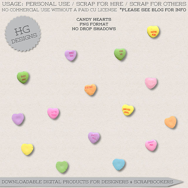 freebie: candy hearts