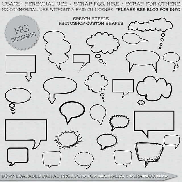 http://cesstrelle.wordpress.com/2014/03/13/freebie-speech-bubble-shapes/