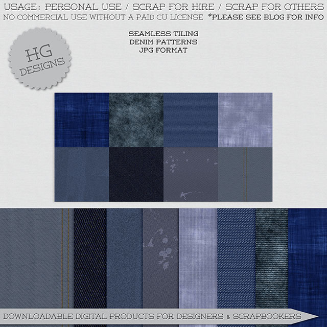 freebie: denim patterns