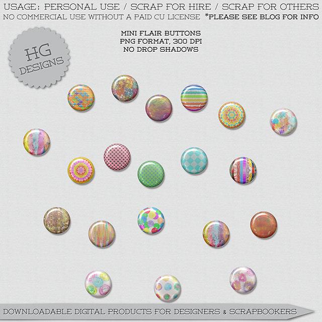 freebie mini flair buttons