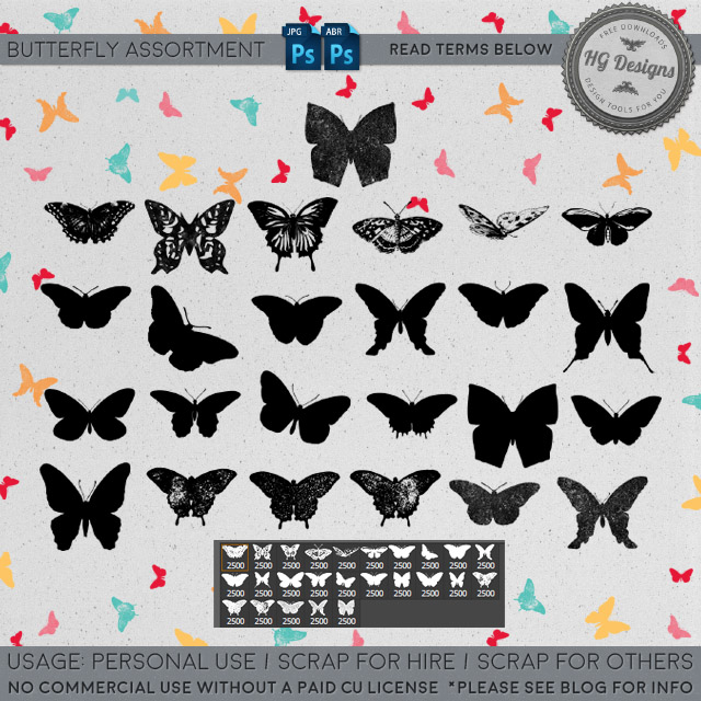 Freebie: Butterfly Assortment Brushes